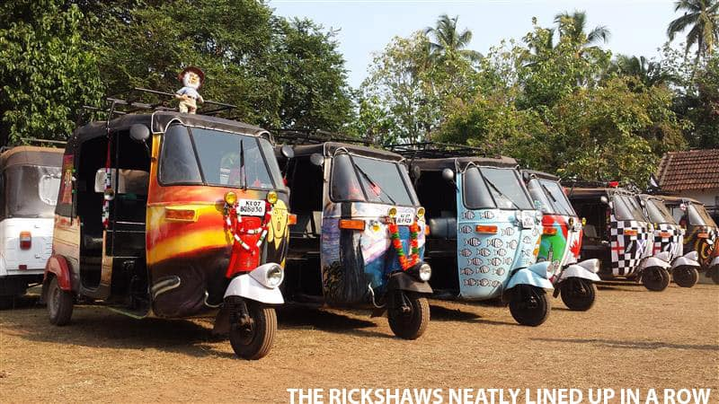 Rickshaw in a Row