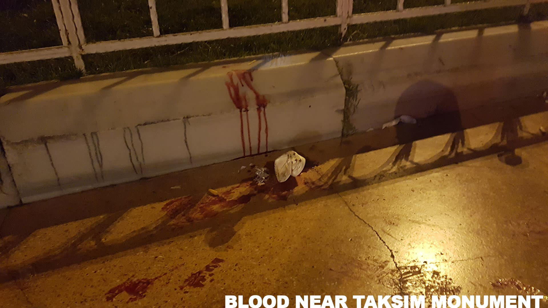 Blood at Taksim Square