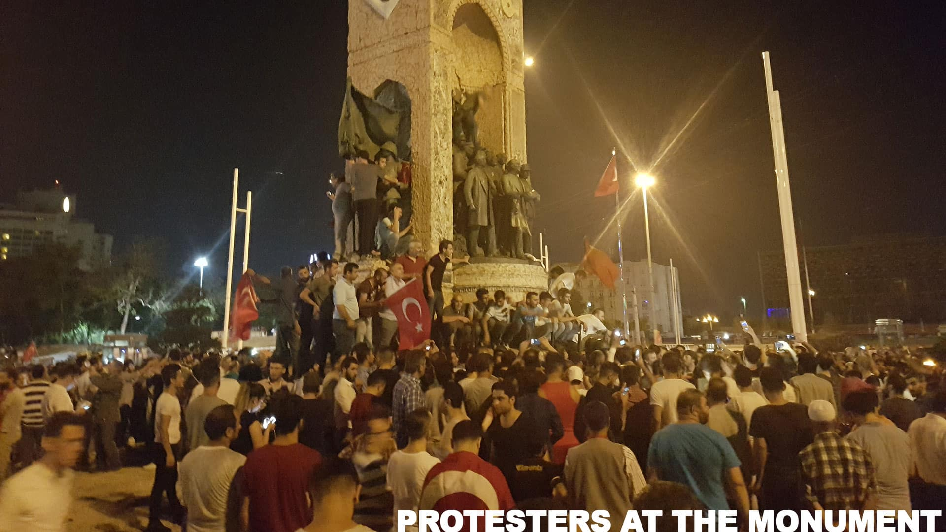 Protesters at Taksim Square